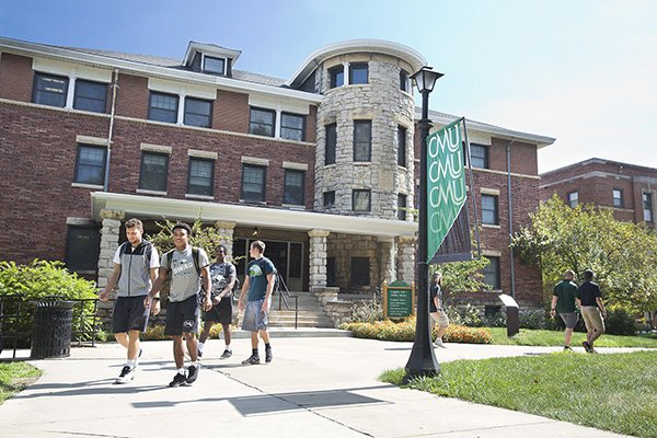 Students walking on the CMU Campus